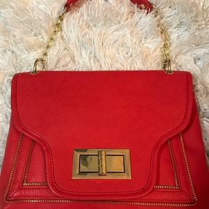 Olivia +Joy NWOT satchel handbag. Gold accents.